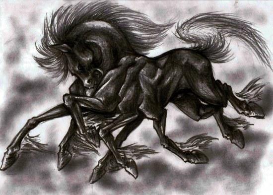 Sleipnir é a montaria do deus Odin, a dúvida que mais intriga os pesquisadores é se este animal é um cavalo de 8 patas ou uma aranha cavaluda.